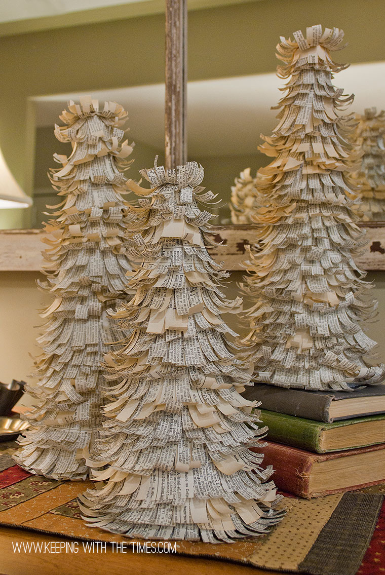 Vintage paper trees - Keeping With The Times