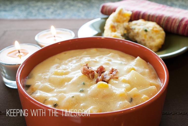 Cheddar-Corn-Chowder