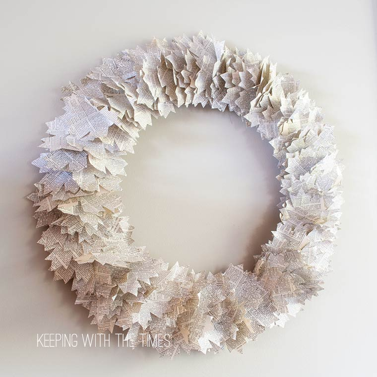 Maple Leaf Dictionary Page Wreath