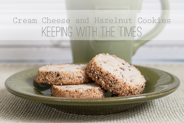 cream cheese, hazelnut, cookies