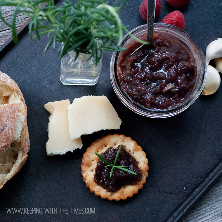 ... & Cheddar Melt With Red Onion-Rosemary Marmalade Recipe — Dishmaps