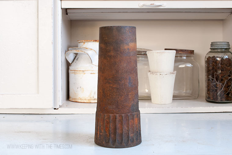 Wagon Wheel Hub turned vase, Keeping With The Times