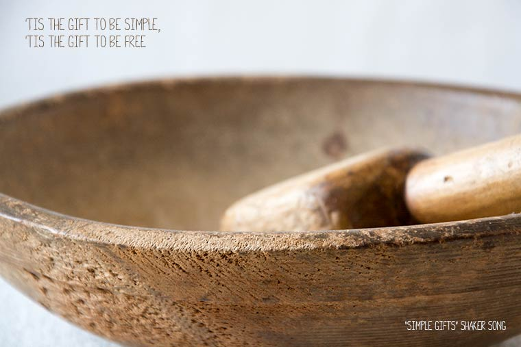 tis a gift to be simple, texture tuesday, shaker song,