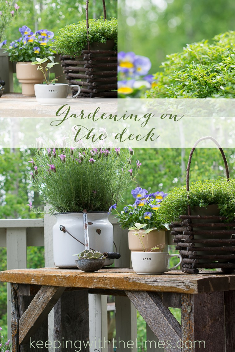 Barn Wood Inspired Garden, Deck Gardening, Gardening in Small Spaces, Keeping With the Times