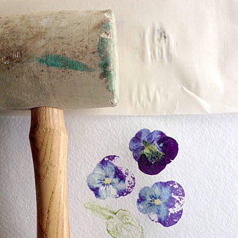 Hapa Zome Book Mark, Mother's Day, Gift, watercolour, watercolour, pansies, botanical, Keeping With the Times
