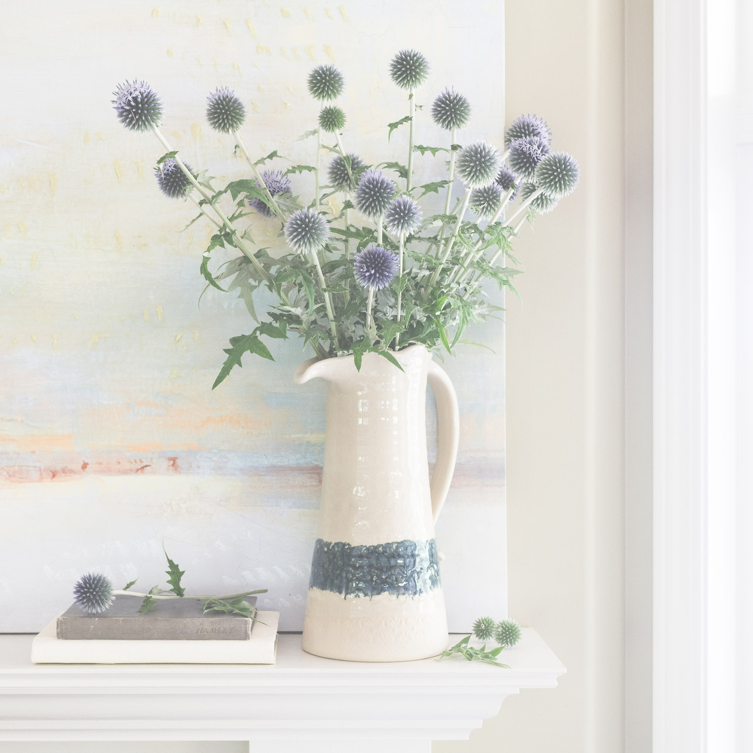 Echinops in a Corner, The Studio Online, Keeping With the Times