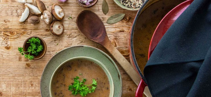 Mushroom Soup with Wild Rice