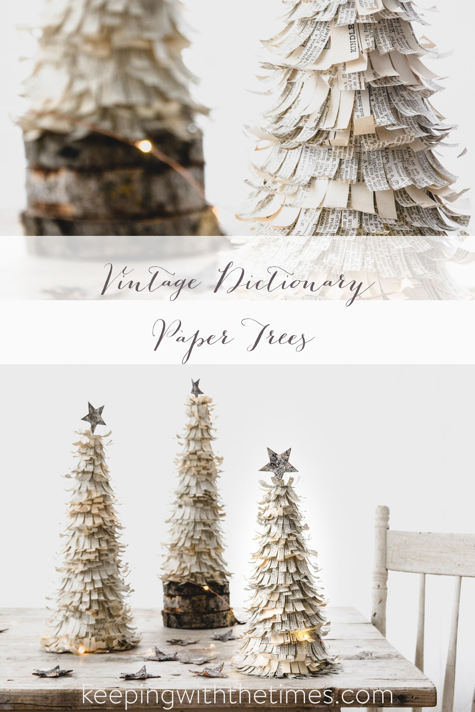 Dictionary Paper Trees, Keeping With the Times, Barb Brookbank