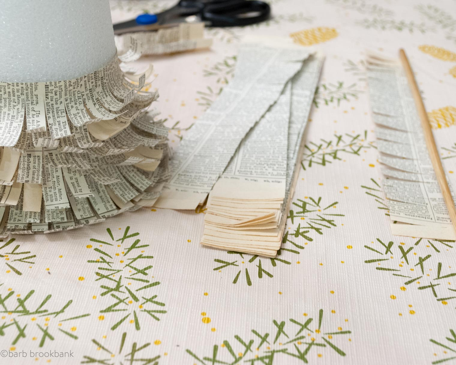 paper trees diy, Barb Brookbank, Keeping With the Times