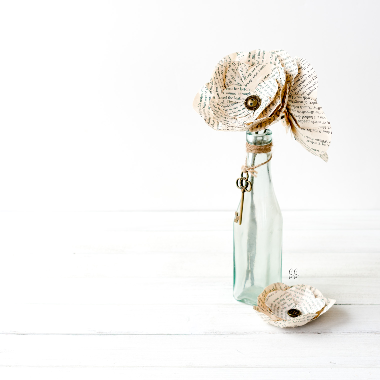 how to make a vintage paper flower