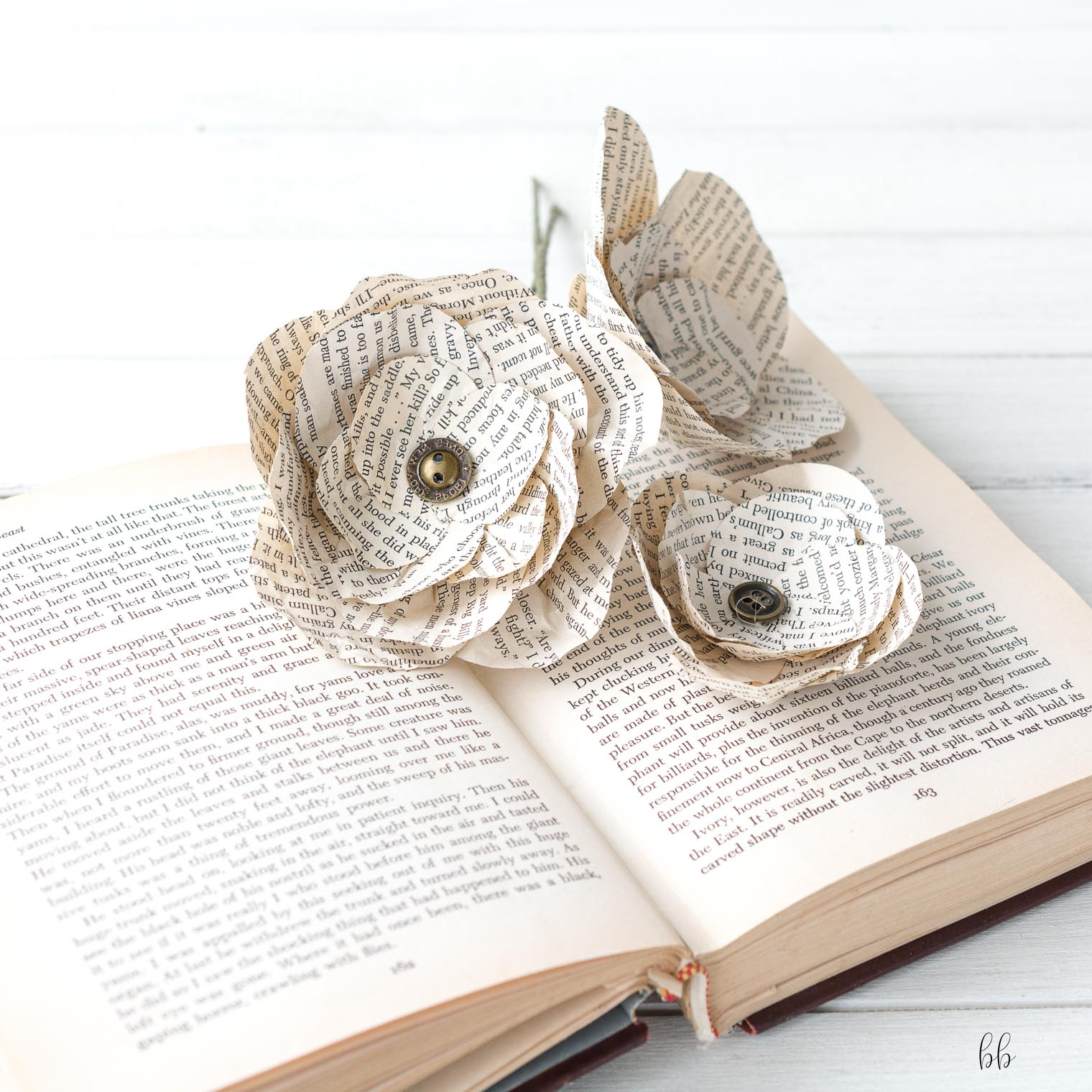 Paper flowers diy keeping with the times vintage book paper flowers diy keeping with the times barb brookbank mightylinksfo