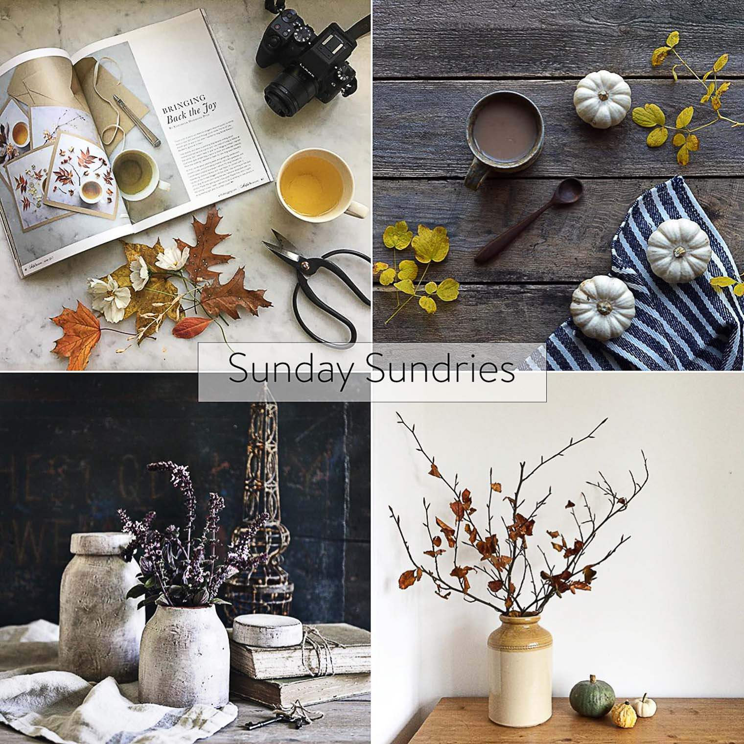 Sunday Sundries Feature November 6, Keeping With the Times