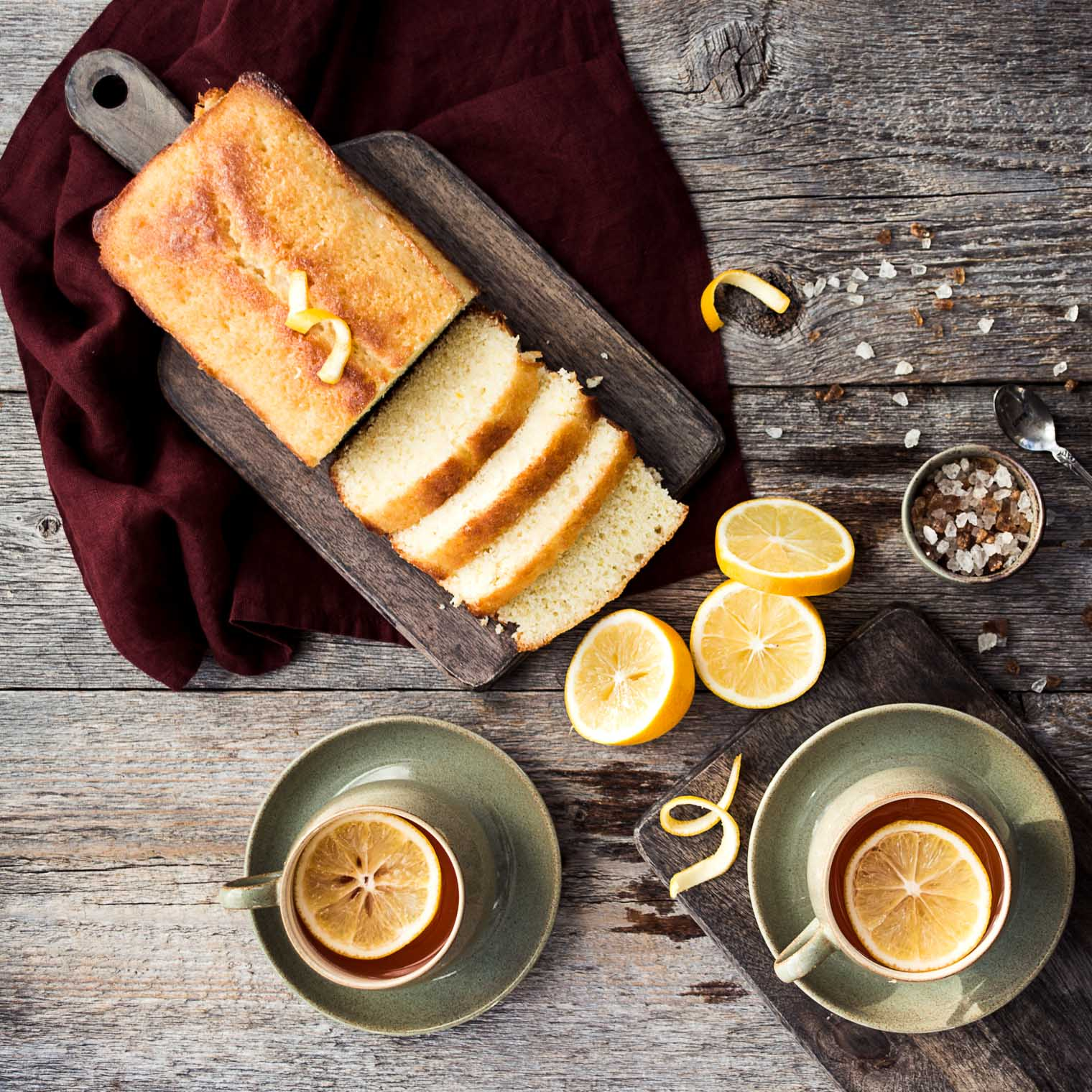 Meeting online friends is easy ... serve tea and lemon loaf ...