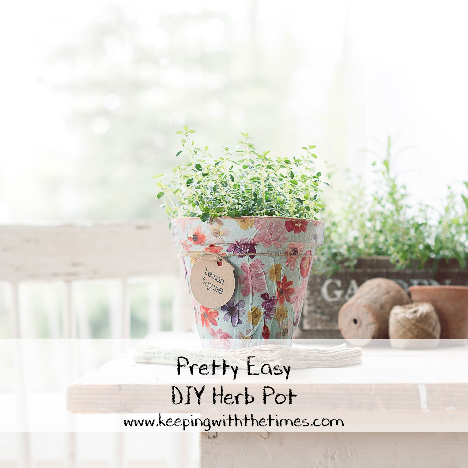 Pretty Easy DIY Herb Pot, Keeping With the Times